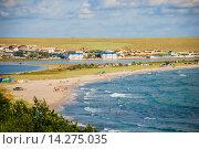 Полуостров Тарханкут возле поселка Оленевка. Крым (2009 год). Стоковое фото, фотограф Николай Голицынский / Фотобанк Лори