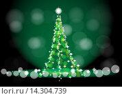 Абстрактная новогодняя елка. Стоковая иллюстрация, иллюстратор Фёдор Мешков / Фотобанк Лори