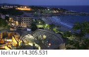 Купить «The Roman amphitheater in night. Tarragona, Spain», видеоролик № 14305531, снято 21 октября 2015 г. (c) Яков Филимонов / Фотобанк Лори