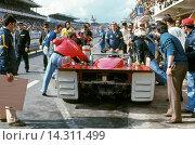 Купить «Alfa T33s were built and campaigned by Autodelta SpA - a subsidiary of Alfa Romeo.Andrea de Adamich-Nino Vaccarella's Alfa Romeo T33-TT-3 Autodelta S.P.A. Finished 4th, Le Mans, France 11 June 1972.», фото № 14311499, снято 7 ноября 2013 г. (c) age Fotostock / Фотобанк Лори