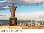 Купить «Saint Nicholas Statue, Siberian City Anadyr, Chukotka Province, Russian Far East, Eurasia», фото № 14335751, снято 14 августа 2018 г. (c) age Fotostock / Фотобанк Лори