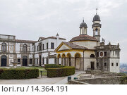 Wallfahrtskirche Chiesa di San Giorgio und villa Duodo in Monselice. Стоковое фото, фотограф Zoonar/Christa Eder / age Fotostock / Фотобанк Лори
