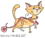 Купить «Котогороскоп: знак зодиака Дева», иллюстрация № 14423227 (c) Елисеева Екатерина / Фотобанк Лори
