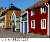 Купить «Street Scene in Kalmar, Kalmar län, Småland, Sweden / Straßenszene in Kalmar, Kalmar län, Småland, Schwede», фото № 14501235, снято 1 августа 2011 г. (c) age Fotostock / Фотобанк Лори