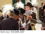 Купить «Austria Wachau Spitz harvest festival spear gras hat and oompah music.», фото № 14549347, снято 17 ноября 2018 г. (c) age Fotostock / Фотобанк Лори