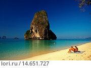 Купить «Phra nang bay beach, Krabi, Thailand.», фото № 14651727, снято 24 января 2019 г. (c) age Fotostock / Фотобанк Лори