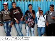 Купить «Jerba schoolboys, Houmt Souk, Tunisia.», фото № 14654227, снято 24 января 2019 г. (c) age Fotostock / Фотобанк Лори