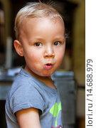 Купить «Boy eating.», фото № 14688979, снято 4 июля 2020 г. (c) age Fotostock / Фотобанк Лори