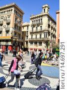 Купить «La Rambla. Barcelona, Catalonia, Spain.», фото № 14697291, снято 23 марта 2019 г. (c) age Fotostock / Фотобанк Лори
