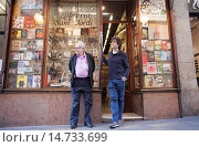 Купить «Sant Jordi library,Josep Morales and Josep Morales,they are the owners (father and son),Carrer Ferran 41, Barcelona, Spain.», фото № 14733699, снято 25 января 2020 г. (c) age Fotostock / Фотобанк Лори