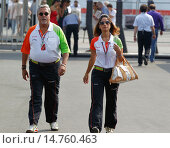 Купить «Formel 1 Rennen in Monza / Sonntag, 11.09.2011 / Force India Chef Vijay Mallya mit Begleitung / Formula One Race in Monza / 2011 / FIA F1 World Championship / SPO / Mandoga Media.», фото № 14760463, снято 11 сентября 2011 г. (c) age Fotostock / Фотобанк Лори