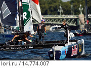 Extreme Sailing Series in St. Petersburg, Russia, фото № 14774007, снято 22 августа 2015 г. (c) Stockphoto / Фотобанк Лори
