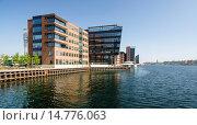 Купить «Modern office buildings, Islands Brygge, Sydhavnen, Copenhagen, Denmark», фото № 14776063, снято 22 июля 2019 г. (c) age Fotostock / Фотобанк Лори