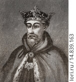 John of Gaunt, 1st Duke of Lancaster, Duke of Aquitaine, 1340 –1399. Member of the House of Plantagenet and third surviving son of King Edward III. From Cassell´s History of England, published c.1901. Редакционное фото, фотограф Classic Vision / age Fotostock / Фотобанк Лори