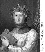 Francesco Petrarca or Petrarch, 1304 - 1374, an Italian poet and historian,. Редакционное фото, фотограф Heinz-Dieter Falkenstein / age Fotostock / Фотобанк Лори