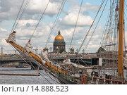Купить «Бушприт парусного судна. Нева. Санкт-Петербург», эксклюзивное фото № 14888523, снято 9 июля 2009 г. (c) Александр Алексеев / Фотобанк Лори