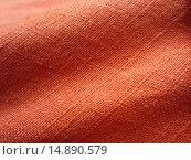 Красная льняная ткань. Стоковое фото, фотограф Наталья ТЕЛЕГАНОВА / Фотобанк Лори