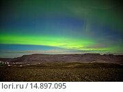 Купить «AURORA BOREALIS - ICELAND», фото № 14897095, снято 10 декабря 2013 г. (c) age Fotostock / Фотобанк Лори