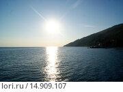 Абхазия, Черное море, закат. Стоковое фото, фотограф Александр Парфенов / Фотобанк Лори