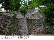 Купить «Bitchu Matsuyama castle, stone wall, castle, Takahashi City, Okayama Prefecture, Sanyo, Japan», фото № 14936507, снято 26 марта 2019 г. (c) age Fotostock / Фотобанк Лори