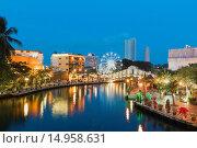 Купить «Malacca River, Malacca, Malaysia», фото № 14958631, снято 14 ноября 2018 г. (c) age Fotostock / Фотобанк Лори