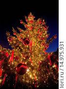Купить «Eine zauberhafte Kulisse bildet das Duesseldorfer Rathaus für den Weihnachtsmarkt am Marktplatz.», фото № 14975931, снято 16 ноября 2019 г. (c) age Fotostock / Фотобанк Лори