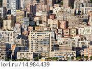 Купить «Dense cluster of city buildings at night.», фото № 14984439, снято 5 ноября 2013 г. (c) age Fotostock / Фотобанк Лори