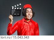 Купить «Man wearing red fez hat», фото № 15043343, снято 30 сентября 2015 г. (c) Elnur / Фотобанк Лори