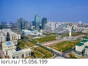 Купить «Kazakhstan, Astana City, New Administrative City, Bayterek Monument.», фото № 15056199, снято 20 сентября 2014 г. (c) age Fotostock / Фотобанк Лори