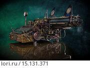 Купить «Печатная машинка в ретро-футуристическом стиле», фото № 15131371, снято 29 ноября 2015 г. (c) Валерий Александрович / Фотобанк Лори
