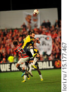 Купить «Western Sydney Wanderers are going to their second successive grand final after beating reigning champions the Central Coast Mariners 2-0 Featuring: Joshua...», фото № 15177467, снято 26 апреля 2014 г. (c) age Fotostock / Фотобанк Лори