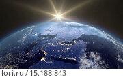Купить «Восход над землей», видеоролик № 15188843, снято 8 декабря 2015 г. (c) Мальцев Артур / Фотобанк Лори