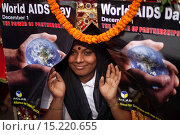Купить «A Bangladeshi transexual attends a rally on the occasion of the World Aids Day in Dhaka, Bangladesh, 01 December 2014. According to latest government figures...», фото № 15220655, снято 1 декабря 2014 г. (c) age Fotostock / Фотобанк Лори
