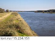 Купить «River Oder by Krajnik Dolny, West Pomerania», фото № 15234151, снято 18 августа 2019 г. (c) age Fotostock / Фотобанк Лори