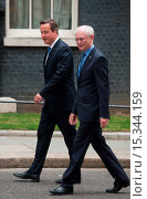 Купить «British Prime Minister David Cameron welcomes Herman Van Rompuy, President of the European Council, at 10 Downing Street. Featuring: David Cameron,Herman...», фото № 15344159, снято 23 июня 2014 г. (c) age Fotostock / Фотобанк Лори