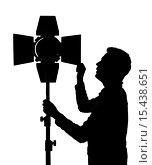 Установка светового оборудования для фотосессий. Стоковая иллюстрация, иллюстратор Виктор Колдунов / Фотобанк Лори