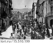Купить «The funerals of the victims of Portella della Ginestra massacre, the workers' slaughter made by Salvatore Giuliano's criminal gang on 1st May 1947. Portella...», фото № 15510199, снято 17 января 2018 г. (c) age Fotostock / Фотобанк Лори