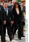 Купить «Reality stars from 'The Real Housewives of New Jersey', Teresa Giudice and husband Joe Giudice, outside a courthouse in Newark, N.J., to face sentencing...», фото № 15530171, снято 2 октября 2014 г. (c) age Fotostock / Фотобанк Лори