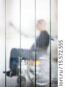 Купить «Disabled man undergoing consultation.», фото № 15572555, снято 20 мая 2014 г. (c) age Fotostock / Фотобанк Лори