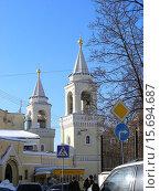 Купить «Ставропигиальный Иоанно-Предтеченский женский монастырь. Малый Ивановский переулок, 2. Москва», эксклюзивное фото № 15694687, снято 16 февраля 2010 г. (c) lana1501 / Фотобанк Лори