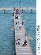 Купить «Bulgaria, Black Sea Coast, Burgas, tourist boat pier.», фото № 15798059, снято 2 июня 2014 г. (c) age Fotostock / Фотобанк Лори