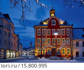 Купить «Town Hall on the marketplace in Suhl, Thuringia, Germany», фото № 15800995, снято 31 января 2015 г. (c) age Fotostock / Фотобанк Лори
