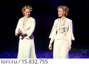 Купить «Opening night curtain call for Broadway's 'Side Show' at the St. James Theatre Featuring: Emily Padgett,Erin Davie Where: New York, New York, United States...», фото № 15832755, снято 18 ноября 2014 г. (c) age Fotostock / Фотобанк Лори