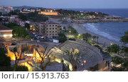 Купить «The Roman amphitheater in night. Tarragona, Spain», видеоролик № 15913763, снято 21 октября 2015 г. (c) Яков Филимонов / Фотобанк Лори