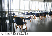 Купить «restaurant interior with tables and chairs», фото № 15992715, снято 27 апреля 2015 г. (c) Syda Productions / Фотобанк Лори