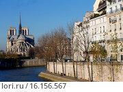 Купить «Paris, Ile Saint-Louis, Quai dOrleans, Notre Dame Cathedral.», фото № 16156567, снято 23 января 2018 г. (c) age Fotostock / Фотобанк Лори