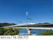 Купить «Japan, Sanyo, Okayama, Setouchi, Setouchi-shi, Yoshikawa, Bullet Train.», фото № 16160711, снято 21 августа 2018 г. (c) age Fotostock / Фотобанк Лори