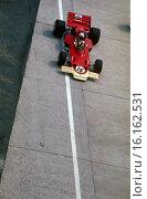 French GP, Clermont-Ferrand 5th July 1970. Andrea de Adamich, McLaren-Alfa-Romeo. Стоковое фото, фотограф GP Library \ UIG / age Fotostock / Фотобанк Лори