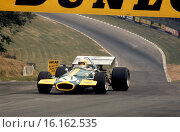 18th July 1970, British GP, Brands Hatch. Jack Brabham, Brabham BT33, finished 2nd. Lead until last corner and ran out of fuel! Стоковое фото, фотограф GP Library \ UIG / age Fotostock / Фотобанк Лори