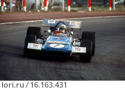 Spanish GP, Jarama, 14th April 1970. Jackie Stewart, March-Cosworth 701, race winner. Стоковое фото, фотограф GP Library \ UIG / age Fotostock / Фотобанк Лори